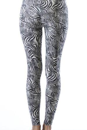 Zebra Style Ankle Leggings