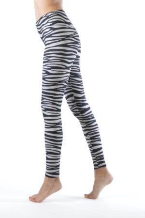 Ankle Length Zebra Leggings