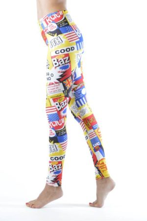 Retro Comics Footless Leggings