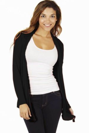 Black Colored Waterfall Cardigan