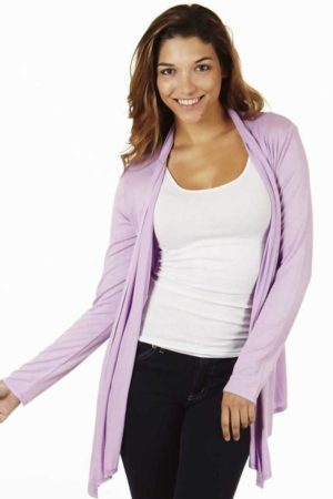 Lilac Colored Waterfall Cardigan