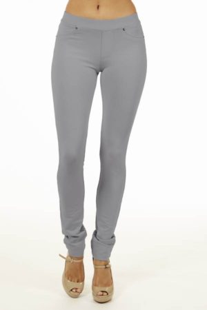 Grey Brazilian Moleton Jeggings