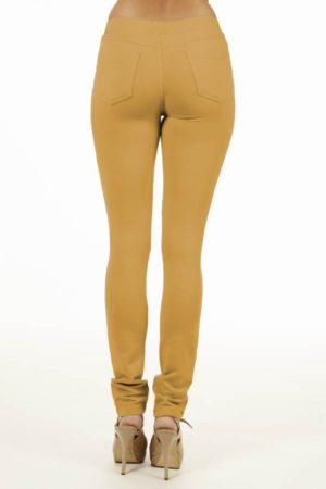 Mustard Brazilian Moleton Jeggings