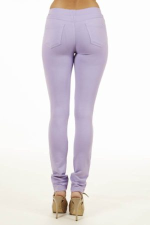 Lilac Brazilian Moleton Jeggings