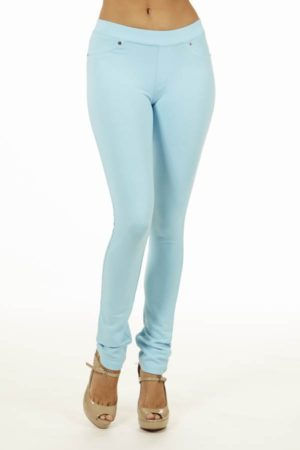 Blue Brazilian Moleton Jeggings