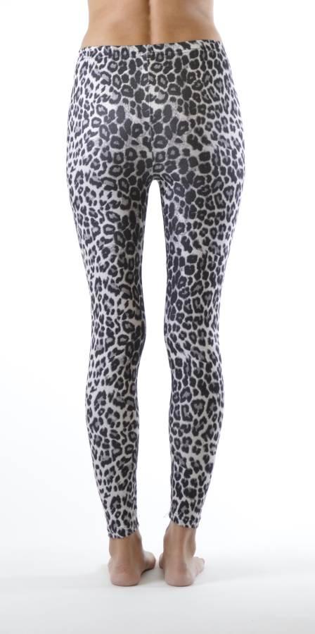 Grey Leopard Ankle Length Leggings