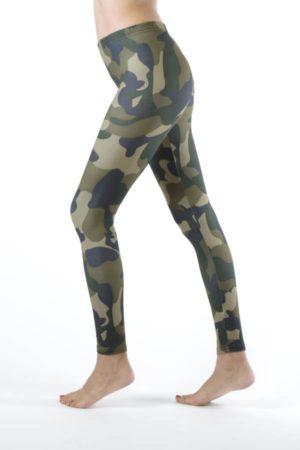 Green Camo Activewear Leggings