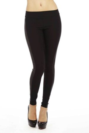 Thick Leather Panel Leggings