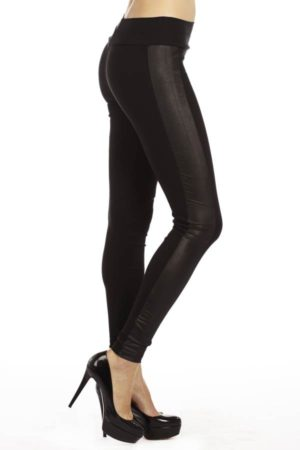 Highwaisted Leather side Leggings