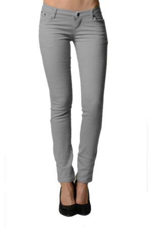 Smooth Grey Colored Denim - Skinny Jeans