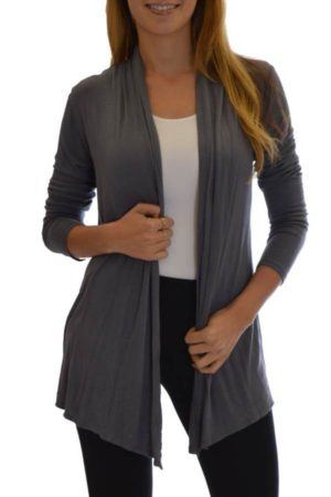 Waterfall Dark Grey Colored Cardigan