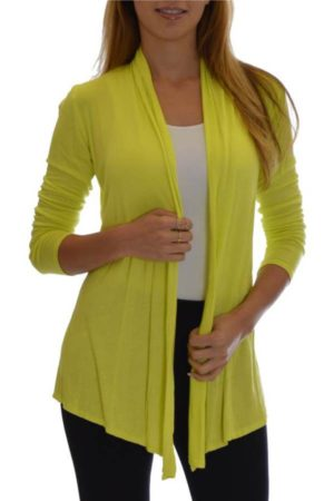 Yellow Colored Waterfall Cardigans
