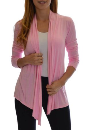Blushing Pink Waterfall Cardigan