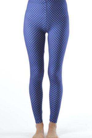 Polka Dot Navy Blue Ankle Leggings