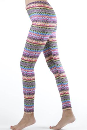 Sexy Pink Tribal Winter Ankle Leggings