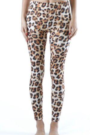 Plus Size Ankle Length Cheetah Leggings