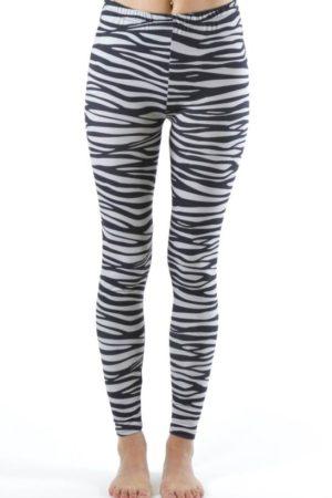 Ankle Length Plus Size Zebra Leggings