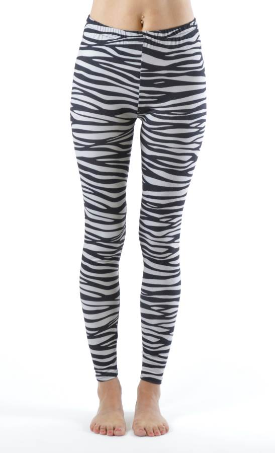 Ankle Length Plus Size Zebra Leggings