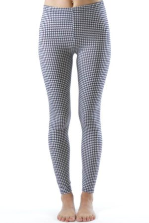 Houndstooth Plus Size Ankle Leggings