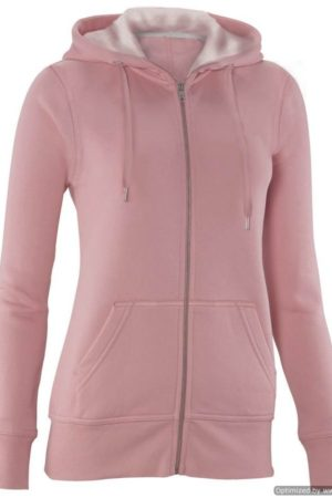 Full Zip Baby Pink Hooded Sweatshirt