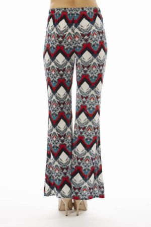 Red Snow Flake Wide Leg Palazzo Pants