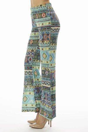 Mint Tribal Wide Leg Pants