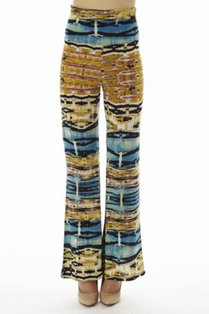 High Waist Blue Egyptian Palazzo Pants