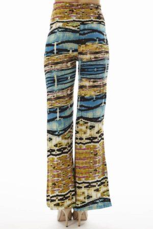 High Waist Blue Egyptian Palazzo Pants