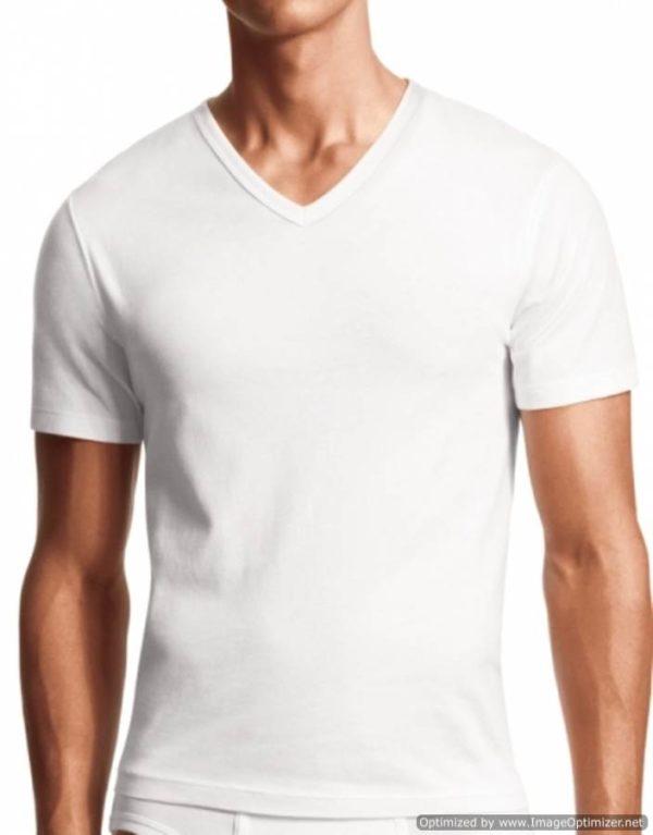 Men's 3 Pack Black or White V-Neck Shirts