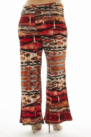 High Waist Red Egyptian Plus Size Palazzo Pants