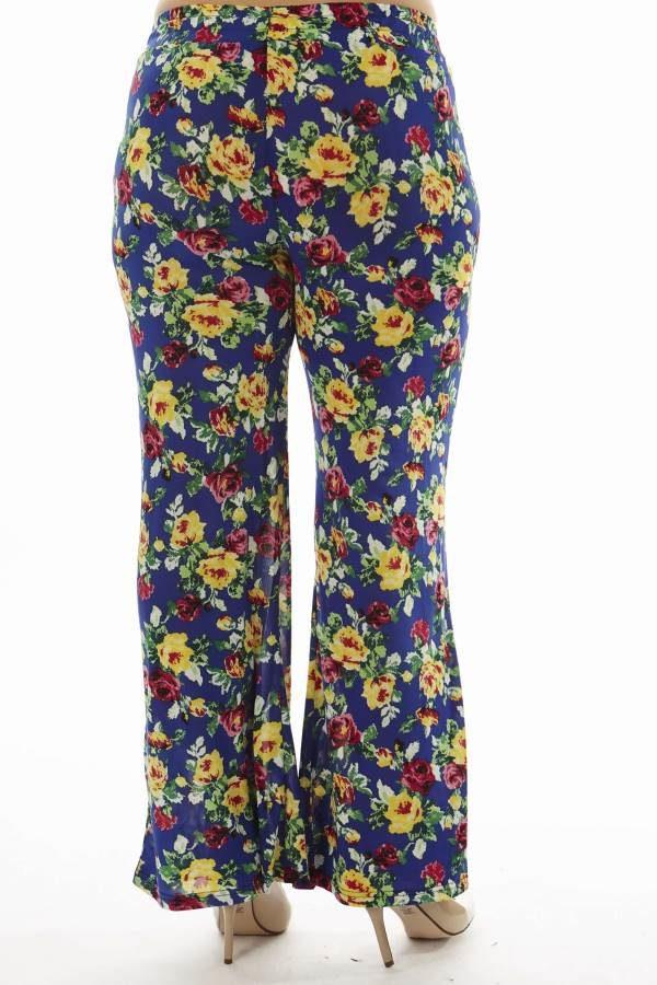 Floral Plus Size Wide Leg Palazzo Pants