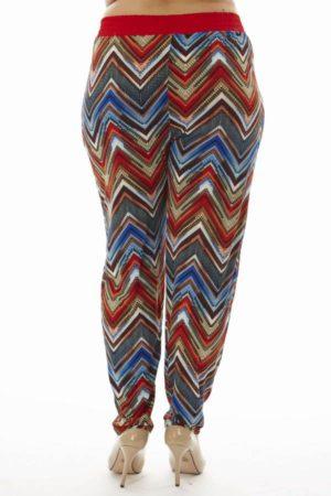 Plus Size Ruby Chevron Print Soft Pants