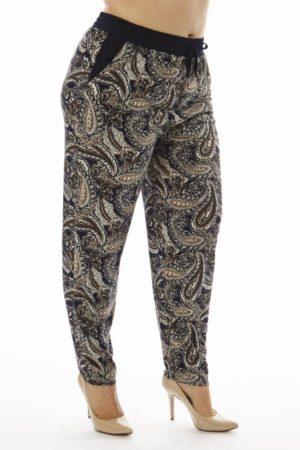 Plus Size Paisley Print Soft Pants