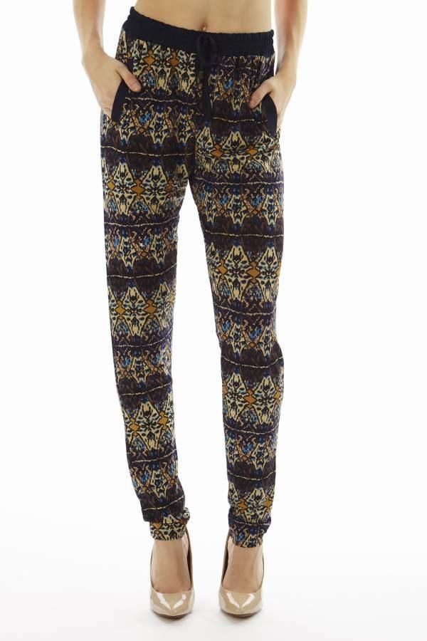 Geometric Print Jogger Pants
