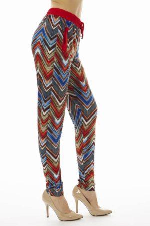 Vibrant Chevron Print Soft Pants
