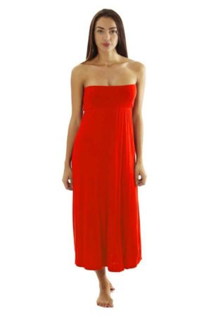 Fitted Waist Ruby Maxi Dress