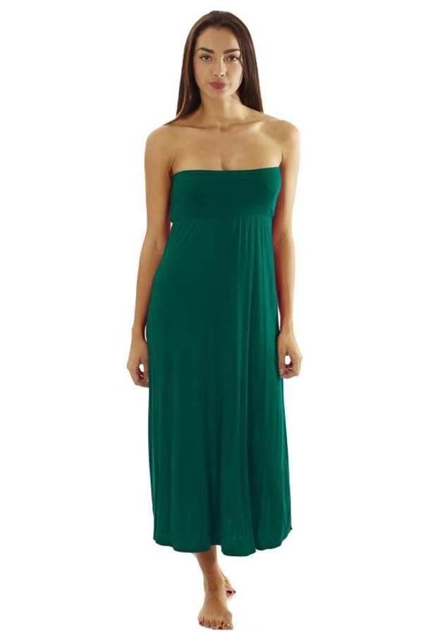 Fitted Waist Jade Maxi Dress