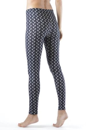 Skull and CrossBones Plus Size Ankle Leggings