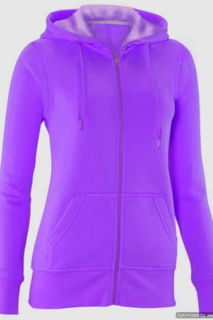 Full Zip Purple Hooded Sweatshirt