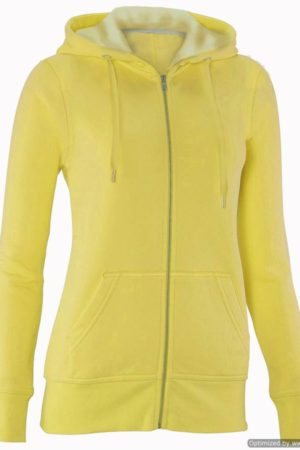 Full-Zip Yellow Hoodie Sweater