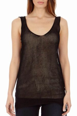 Roxy Black See-Through Tank