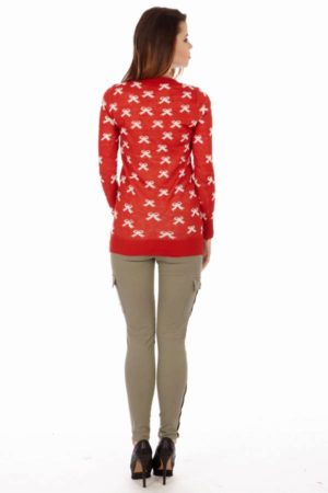 White Ribbon Scarlet Long Sleeve