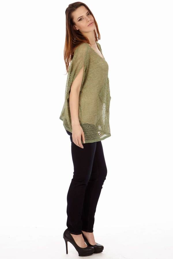 Light Green Drape Knit Top