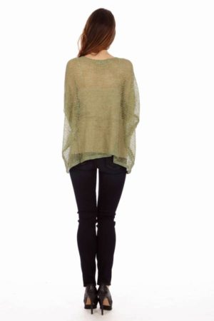 Light Green Drape Knit Top
