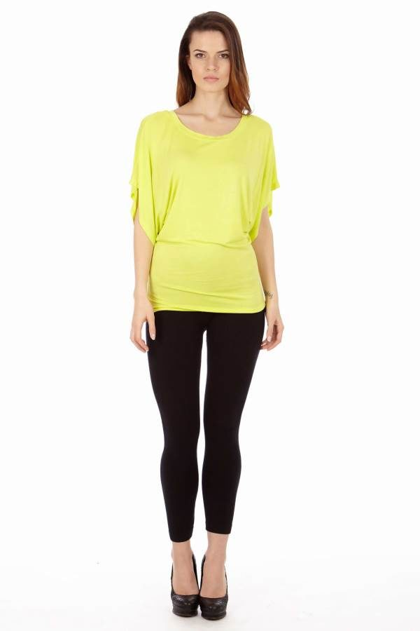 Lime Colored Flowing Angel Blouse