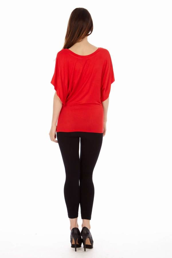 Red Flowing Angel Blouse