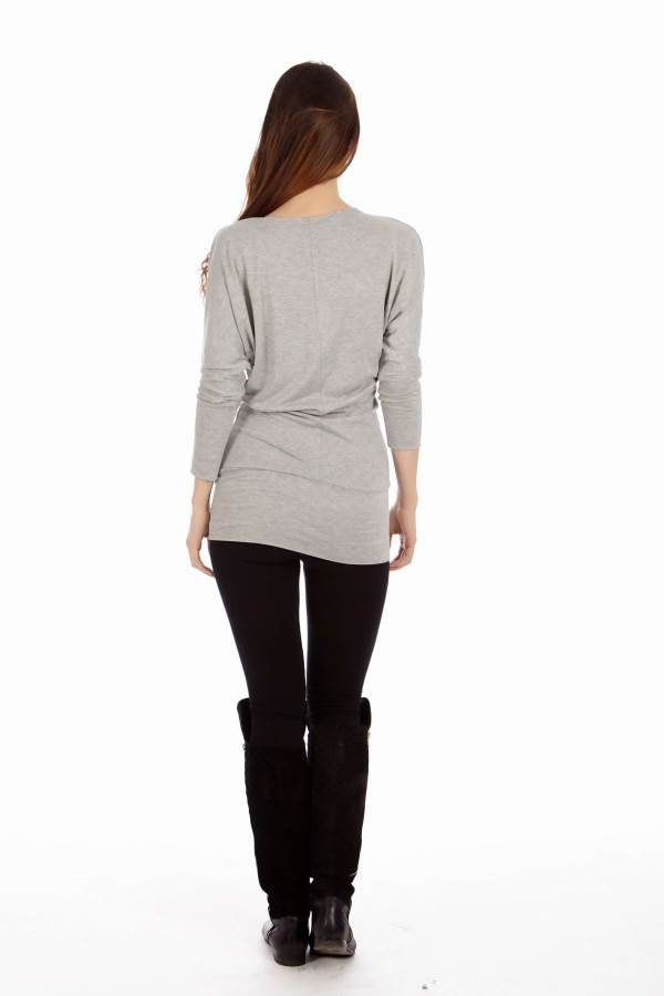 Light Grey Cowl Neck Dress
