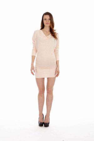 Light Pink Cowl Neck Dress