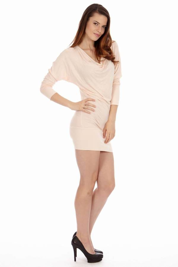 Light Pink Cowl Neck Dress