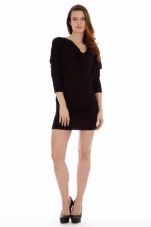 Black Cowl Neck Dress
